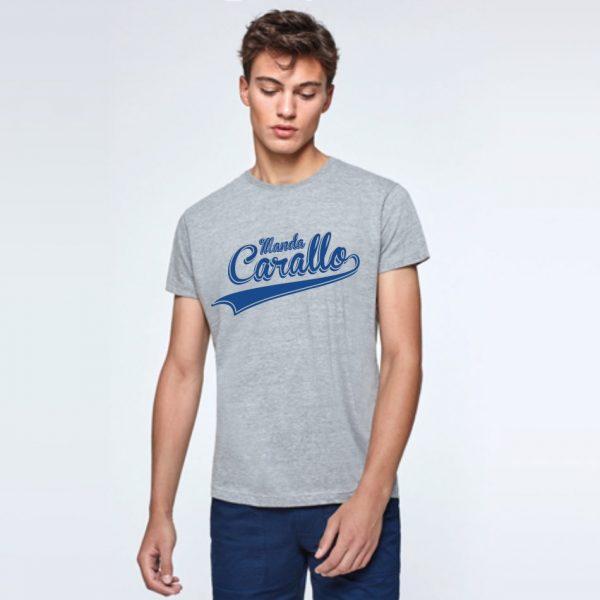 camiseta gris azul